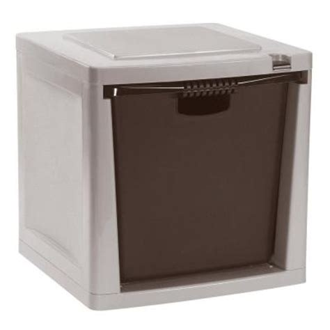 suncast storage trends heavy duty 50 lb capacity stacking