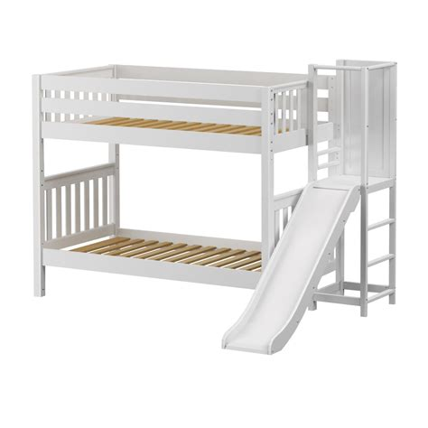 twin bed with slide maxtrixkids gap ws medium twin bunk bed with slide