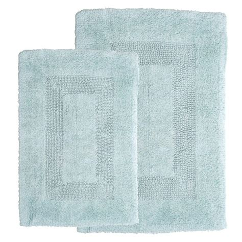 seafoam green bath rugs lavish home seafoam 1 ft 10 in x 2 ft 11 in cotton 2 bath rug set 67 0018 sf the