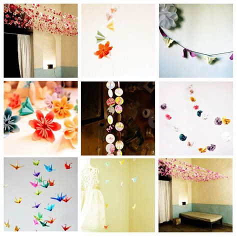 Origami Garland - recycled paper chains origami garlands