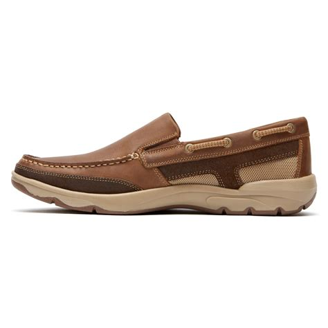 rockport cshore slip on in brown for lyst