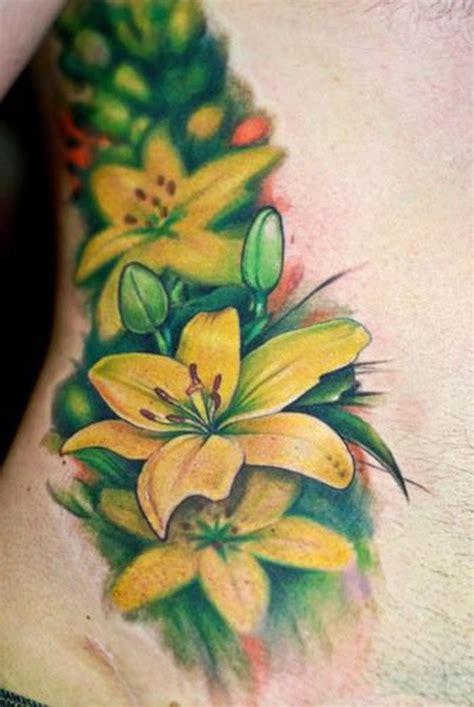 paradise gathering tattoos bez yellow flowers