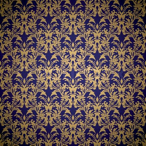 floral pattern cdr file blue gradient colour style 1168464 golden floral seamless background design with blue