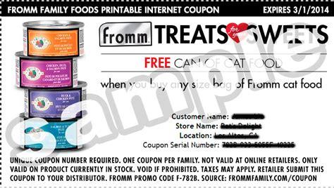 fromm dog food coupons printable printable fromm cat food coupons cat food coupons