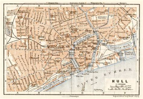map of kingston upon hull map of kingston upon hull in 1906 buy vintage map