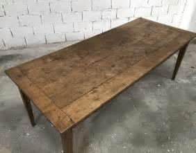 table de ferme avec banc ancienne table de ferme pieds fuseaux en ch 234 ne massif n 176 004