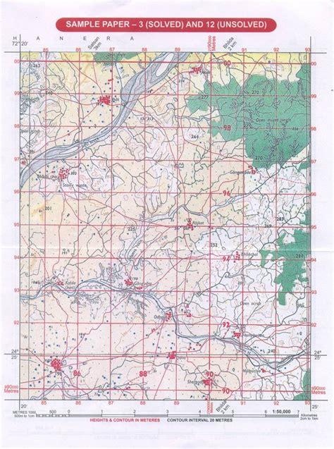 grid pattern in geography sle toposheet practice 1 geo jaydeep