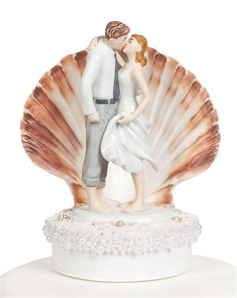 wedding cake toppers get away shell wedding cake topper wedding