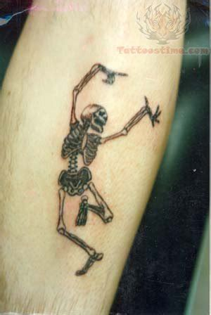 dancing couple tattoo skeleton