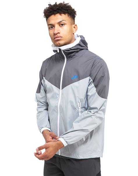 Jaket Nike Parasut Windrunner Grey lyst nike windrunner jacket in gray for