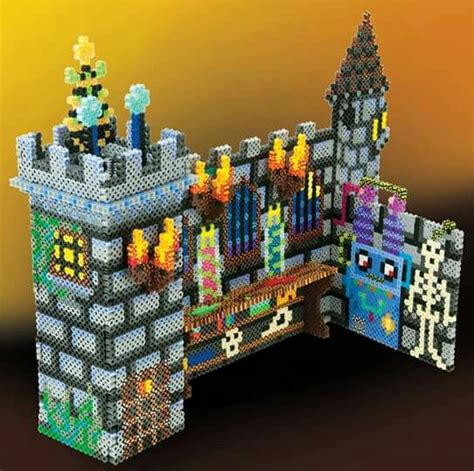 3d perler bead creations haunted castle 3d perler fuse 3d