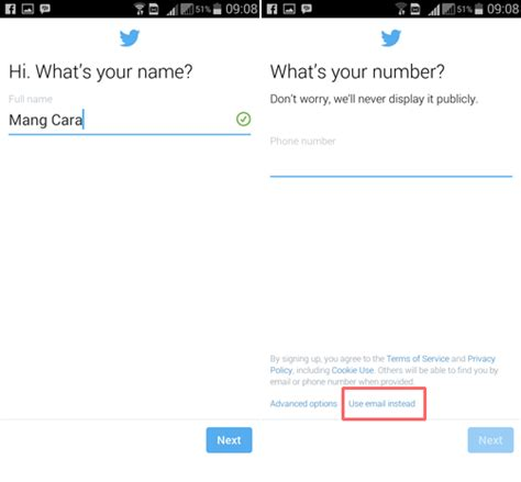 cara membuat twitter lewat hp android cara daftar twitter baru lewat hp android