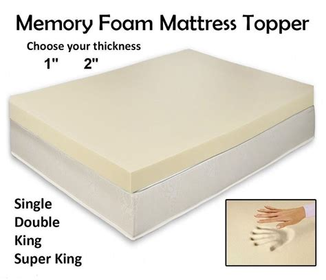 Memory Foam Mattress Cover Quality Memory Foam Mattress Topper All Depth And Sizes Ebay