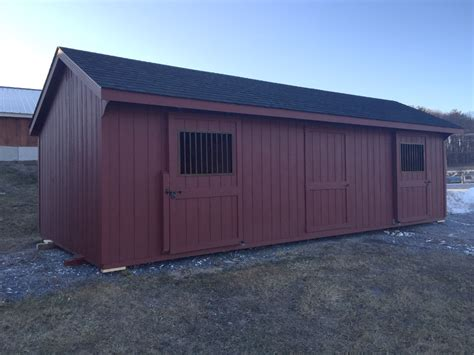 Run In Shed For Sale by Vermont Barns Stables And Animal Shelter Structures
