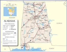 alabama map alabama state map alabama road map map of