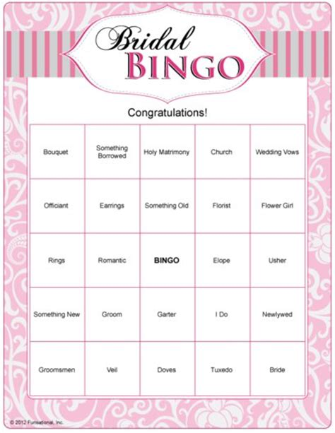 Printable Bridal Shower by Bridal Shower Bingo Cards Free Printable Search Results