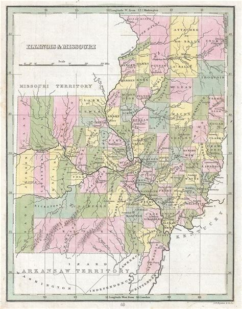 map missouri and illinois illinois and missouri geographicus antique maps