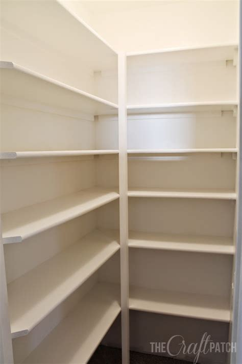 Easy Pantry Shelves by The Craft Patch How To Build Pantry Shelves Pantry