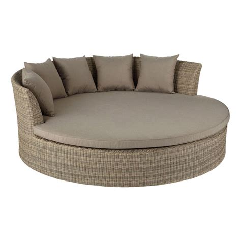 rattan daybed ibiza large round daybed rattan oka