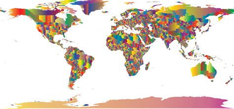 colorful world map clipart colorful world map 2