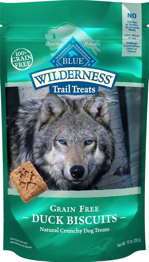 blue buffalo wilderness puppy blue buffalo wilderness trail treats duck biscuits grain free treats 10 oz bag