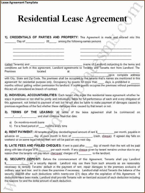 100 rental agreement template printable sle