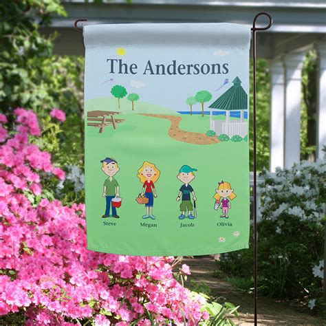 Garden Banners From by 11228 Family Characters 169 Personalized Garden Flag