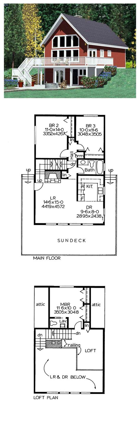 Hillside Floor Plans by Hillside House Plan 90822 Total Living Area 1263 Sq Ft