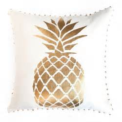 pineapple bedding pineapple foil print pillow bedding