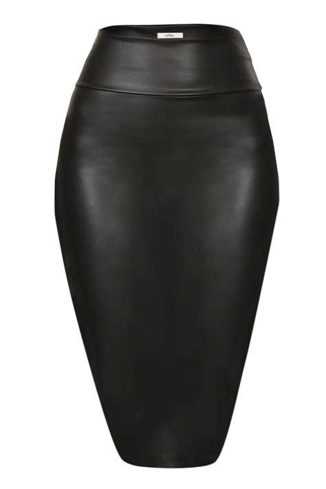 scuba pencil skirt midi bodycon skirt below knee skirt