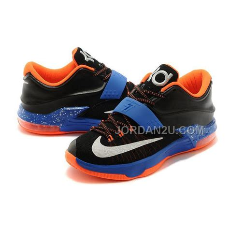 kd shoes for sale nk kd 7 vii okc away black photo blue hyper