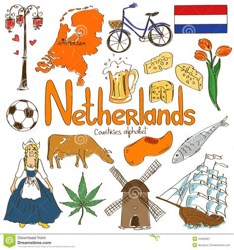 netherlands map icon collection of netherlands icons stock vector image 44936361