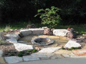 Garden Firepits Idea The Firepit Come From The Poured Portion Of The Patio Slab The