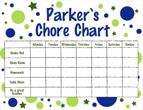 items similar to chore chart for boys on etsy