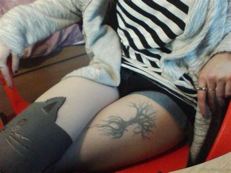 cool thigh tattoos 35 fabulous tree tattoos on thigh