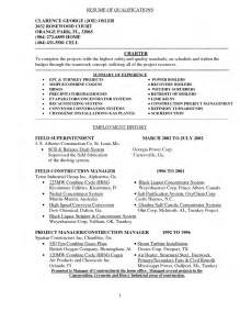 Resume Summary Of Qualifications Exle by Summary Of Qualifications Resume Exles Berathen