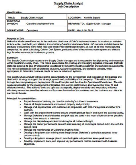 supply chain management description sle 7 exles in word pdf