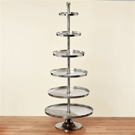 whatnot 200cm height nickel plated 79cm wide silver - Etagere 200 Cm