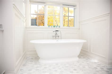 traditional bathroom floor tile oakley home builders