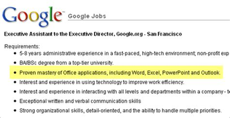 wants to hire someone proficient in microsoft office