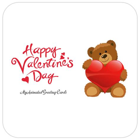 happy valentines day bears animated valentines day cards