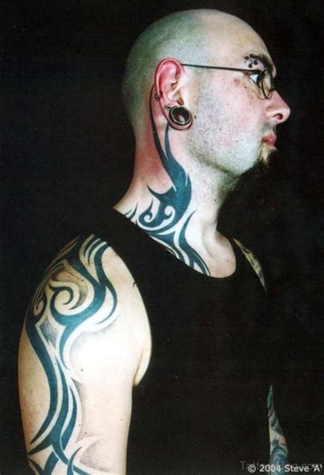 tribal tattoo on neck 67 tribal neck tattoos