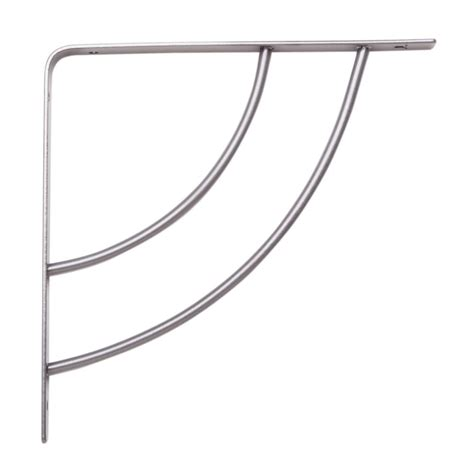 decorative shelf brackets home depot knape vogt milano 8 in x 75 in platinum 25 lb