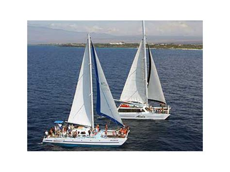 catamaran rides big island private group catamaran charter from anaehoomalu bay big