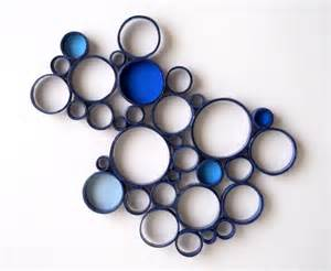 Circle Wall Decor by Paper Wall Sculpture Circles Blue Navy Bubbles By