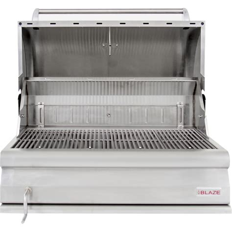blaze 32 inch built in stainless steel charcoal grill with adjustable charcoal tray blz 4 char