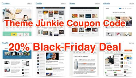 theme junkie the world theme junkie 20 coupon code black friday deals