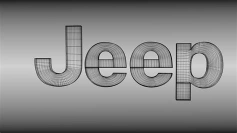 jeep logo jeep logo 3d model obj blend cgtrader com