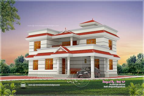 4bhk house 1990 square feet 4 bhk house elevation design kerala
