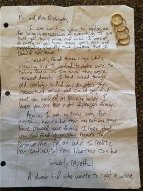 Apology Letter To Victim Of Theft January 2013 Jacksonville Criminal Attorney